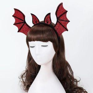 🦇 Lovely Cartoon Bat Wings And Ears Sequin Shiny Headdress Headband 🦇